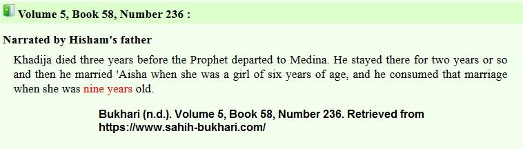 Bukhari-Aisha-Six-Nine-Age