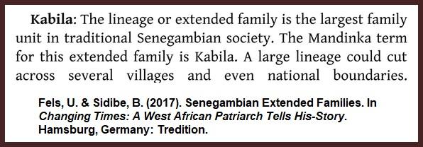 Fels-Kabila-Senegambia-Family