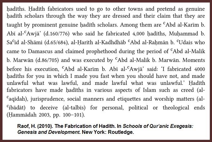 Raof-Hadith-Fabrication