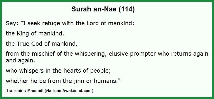 Surah 114 Maududi
