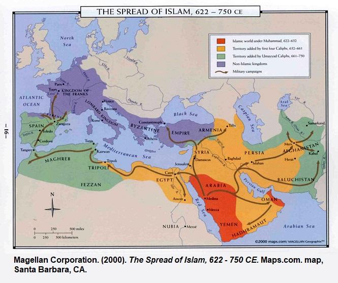 Spread-Of-Islam-Map